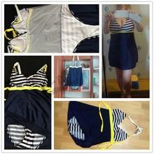 Padded Navy Blue Beach Halter Skirt