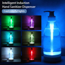 Soap Brite LED Colorful Light Liquid Dispenser Glowing soap bottle Hand sanitizer dispenser sensor nigh tlight portable