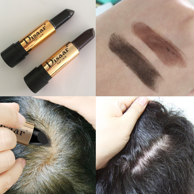 1Pcs Fast One-Time Hair dye Instant Coverage Hair Color Modify Cream Stick Temporary Cover Up White Hair Colour Dye