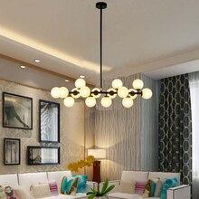 Nordic Llevó Luces Colgantes Dormitorio Cocina Bola de Cristal + Metal cuerpo Loft Lámpara Colgante Moderna Iluminación para el Bar Cafe casa