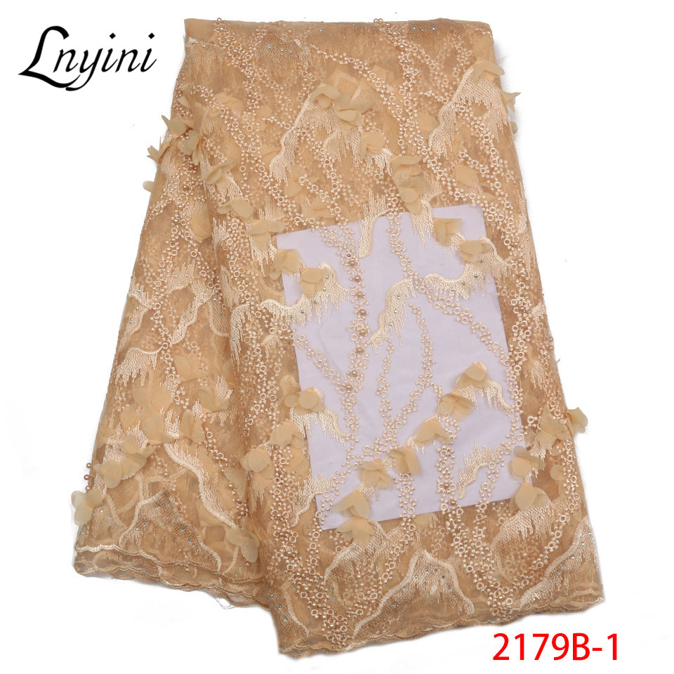 New Arrival French Net Lace Fabric High Quality Appliqued Beaded Lace Fabric African tulle Lace Fabric