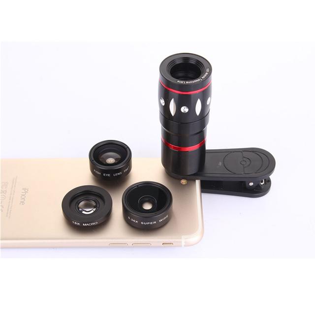 4em1 10X 15x 0.36X Lentes Zoom Telefoto Telescópio lente olho de Peixe Grande Angular marco lens para xiaomi redmi 2 3 s 4 nota 3 mi4 MI5