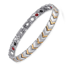Titanium Health Power Bracelet Bangle For Women Jewelry with 4 Elements Magnetic Couples Accessories OTB-034