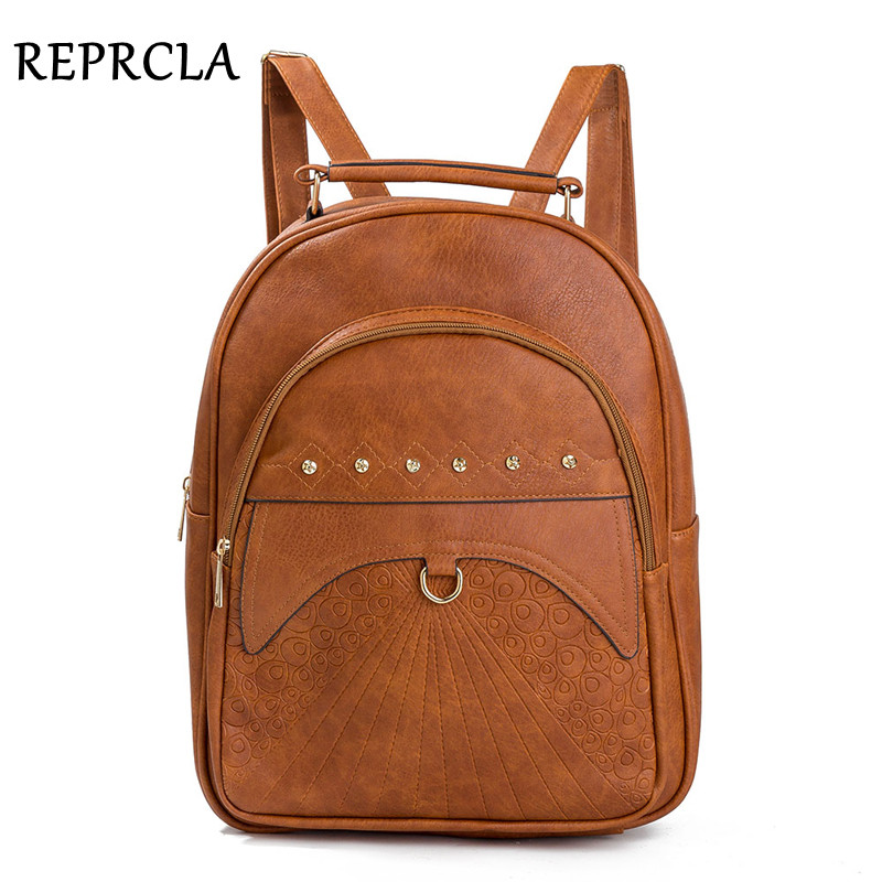 Capacity, Women, Backpack, Leather, REPRCLA, Shoulder