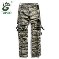 Brand TAPOO Military Cargo Pants Men Loose Straight Combat War Game Tactica Camouflage Cargo Pants Working