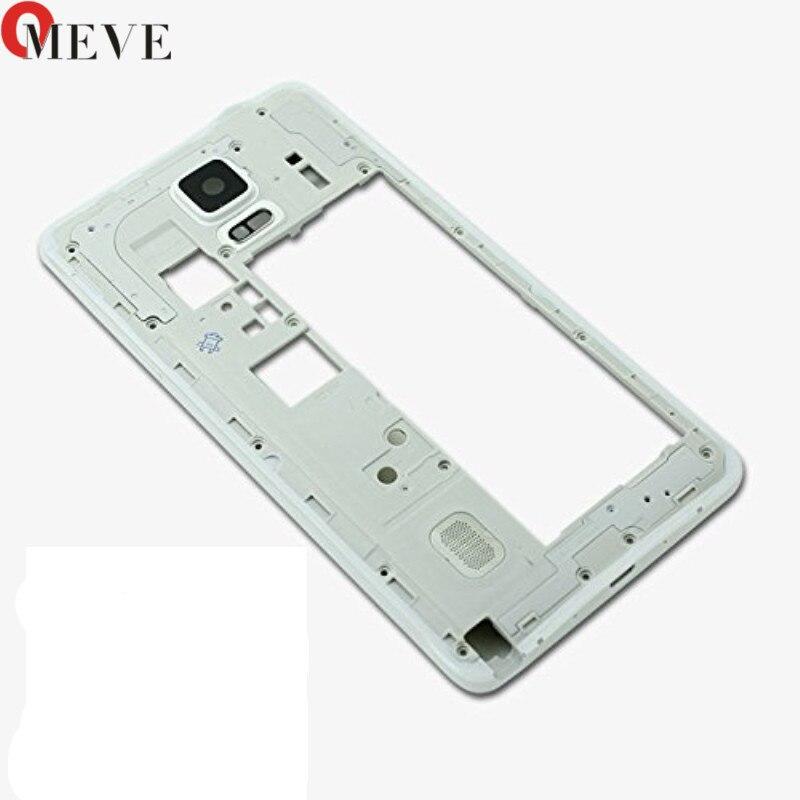 ea8834c7a8b Carcasa Original piezas de repuesto para Samsung Galaxy Note 4 N910F/V/C/A  placa de Marco medio bisel medio chasis Backplate