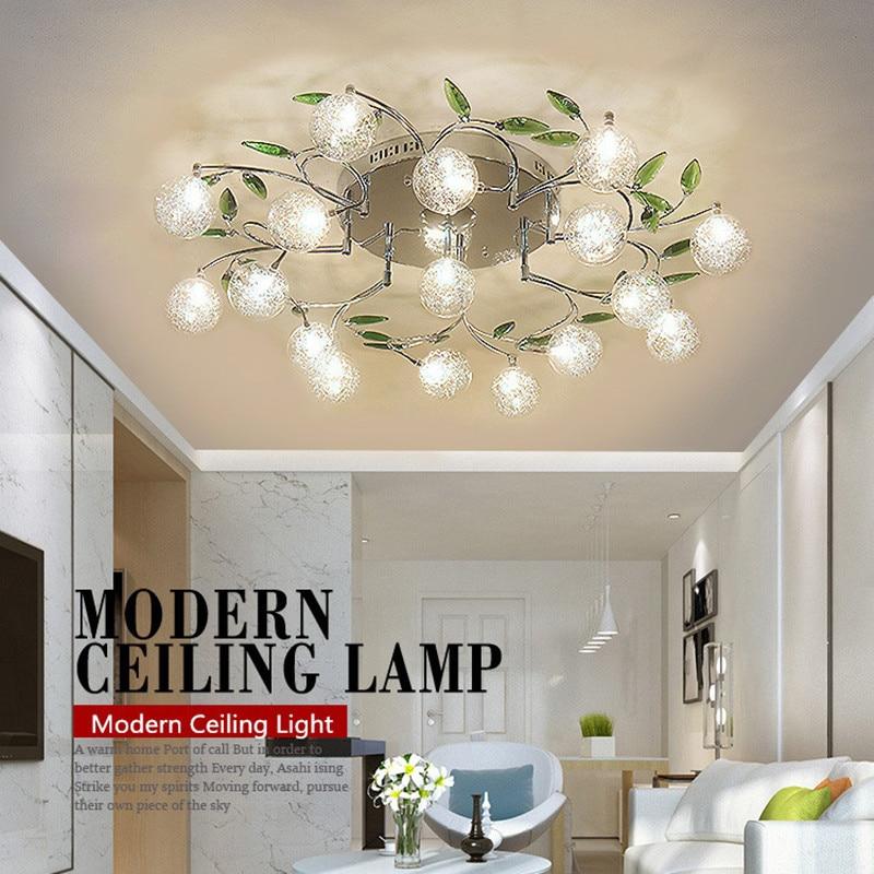 modern ceiling lights crystal led ceiling light fixture flower lamp