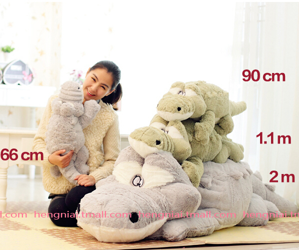 55cm Stuffed animals Big Size Simulation Crocodile kawaii Plush Toy Cushion Pillow Toys for kids free shipping stuffed animal 44 cm plush standing cow toy simulation dairy cattle doll great gift w501