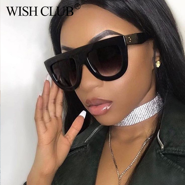 e1f45627b5 WISH CLUB 2018 New Fashion Sunglasses Women Luxury Brand Designer Full  Frame Sexy Sun Glasses For