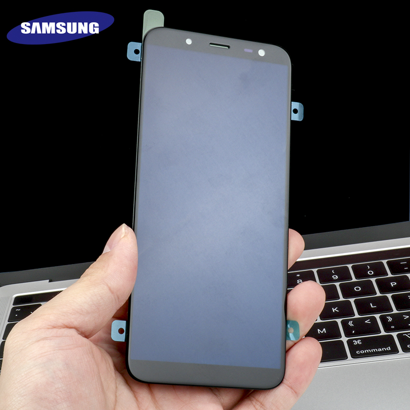 HTB1vv2sX0zvK1RkSnfoq6zMwVXan 100% Original 5.6'' Super AMOLED LCD For Samsung Galaxy J6 2018 J600F J600 Display With Touch Screen Assembly Replacement Parts