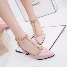 2019 New Luxury Women Sandals High Heels Fashion Shoes Designers Pointed T-Strap Sexy Ladies Party
