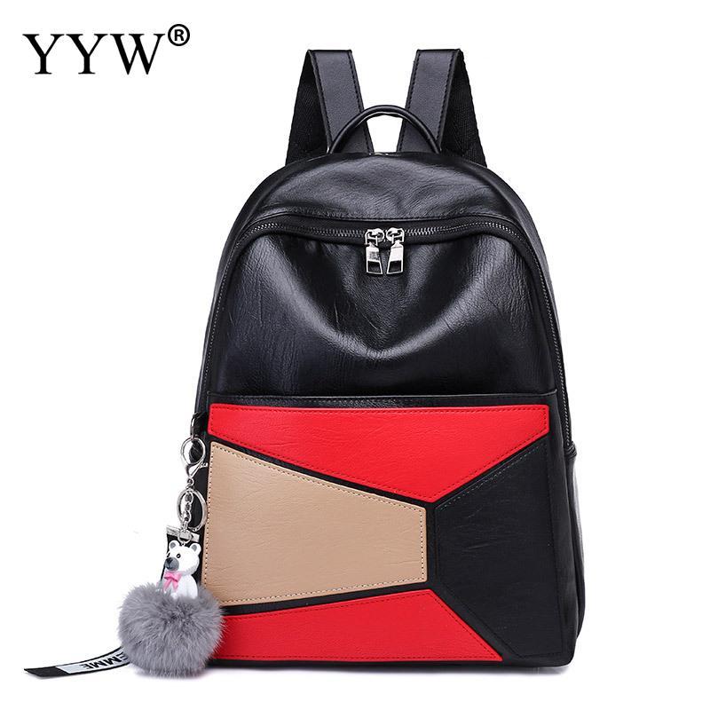 Haute qualité en cuir sac à dos Plaind modèles conception femmes sacs décontracté femme voyage sacs à dos sacs d'école pour adolescente filles