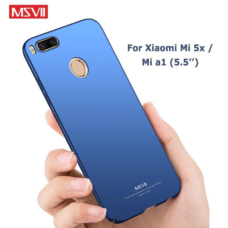 more photos 6d64d 1a732 US $3.98 20% OFF|Xiaomi Mi A1 Case Cover Msvii Silm Frosted Funda For  Xiaomi Mi 5x Mi5x Case Xaomi 5X Hard PC Cover For Xiaomi A1 MiA1 Cases  5.5