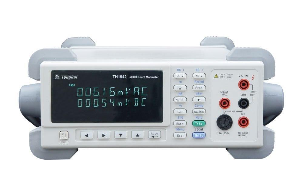 TH1942 высокой точности высокоскоростной 25 Чтение/второй DCV 0.02% сопротивление, Ом 0.1% Digital True RMS мультиметр 50000 отсчетов