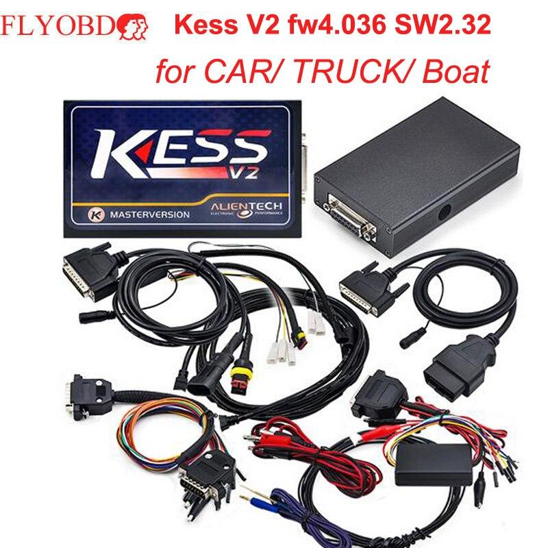 Цена за Для автомобилей и грузовиков KESS V4.036 ЭКЮ программист KESS V2 2.32 Чип ECU Инструмент настройки мастер версия notoken Limited Бесплатная ECM Titanium