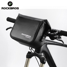 ROCKBROS 3-4L Handlebar Bag Bicycle Waterproof Bike Front Tube Pocket Shoulder Pack Riding Cycling Accessories