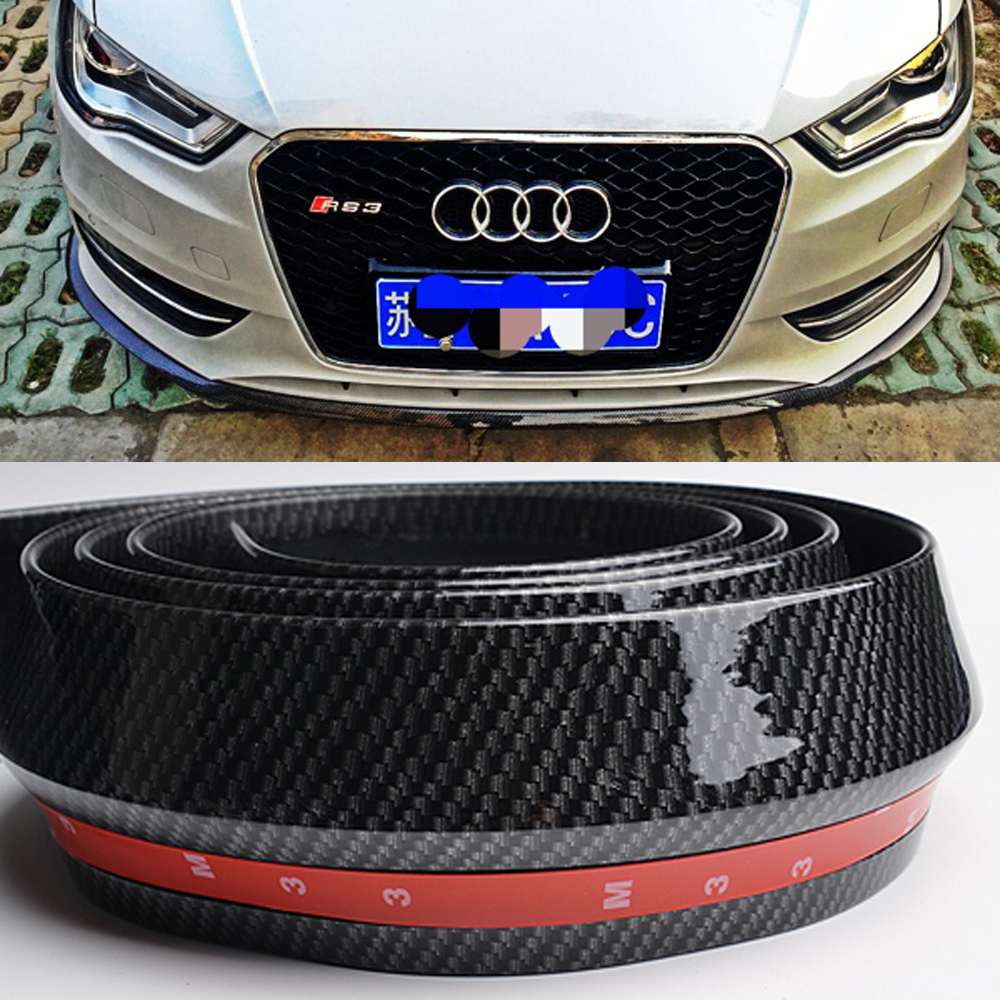 Front Bumper Lip Protector Splitter Body Guard Side Skirt Spoiler Cover for audi a4 buttoned split front skirt