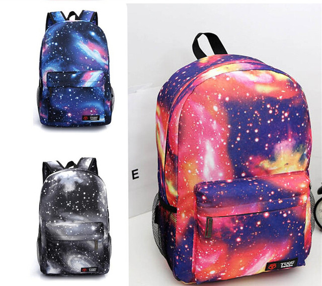 e3328c17008 Galaxy design backpack for boy and girls Casual school bag shoulder bag  Free Shipping