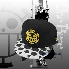 Anime One Piece Cosplay props sombrero Trafalgar Law Cap ajustable para  Mujeres Hombres gorra de béisbol 4665f21d967