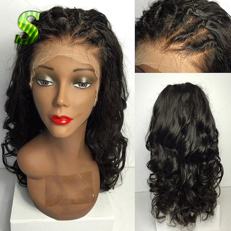 7a Peruvian Full Lace Wig Virgin Hair Body Wave Lace Front