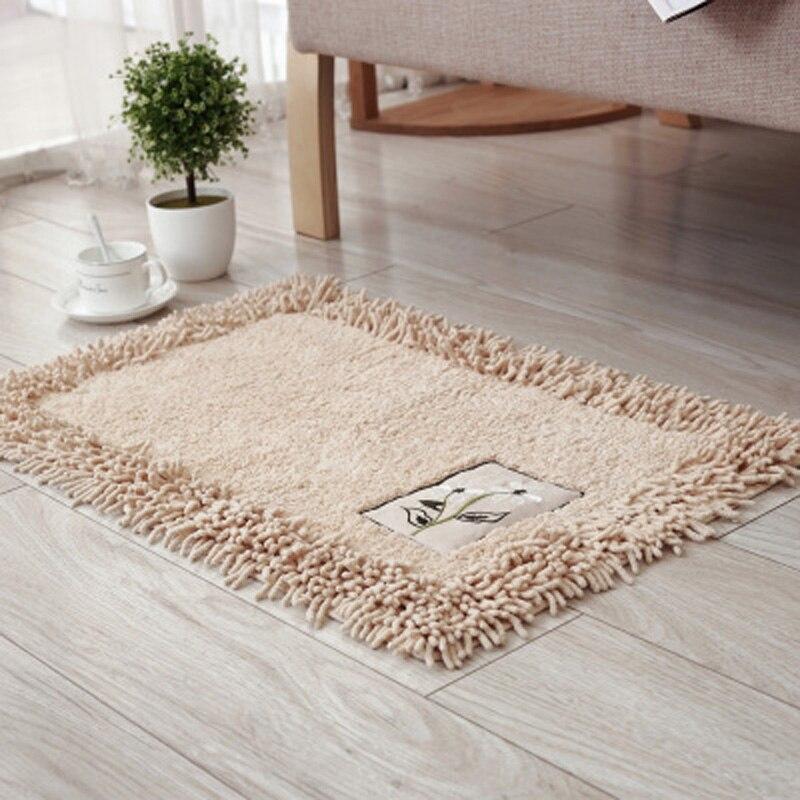 45*120 cm Chenille salle de bains tapis grand plancher de cuisine vert tapis et tapis maison salon tapis antidérapant moderne décoration de la maison