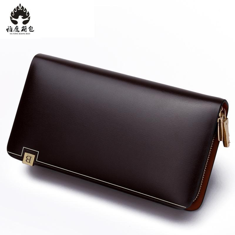 New Bifold Men Wallet Brand Famous Mens Genuine Leather Long Wallet Clutch Male Money Purse Id Card Holder Carteira Masculina designer men wallets famous brand men long wallet clutch male money purses wrist strap wallet big capacity phone bag card holder