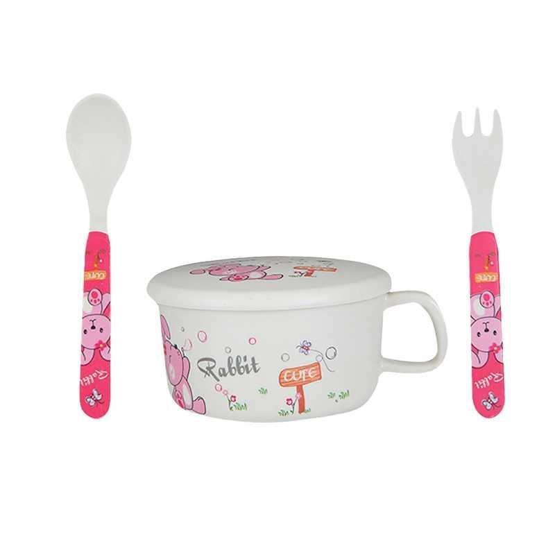 وعاء طعام ملعقة للتغذية الطفل أدوات المائدة التعلم أطباق خدمة لوحة/صينية الالتصاق الطفل أواني الطعام مجموعة للطفل