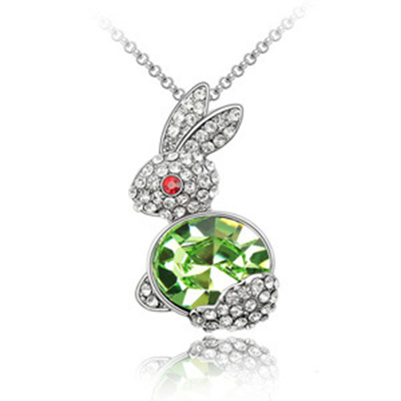 Transport Good Rabbit Lucky Gifts Korean Crystal Necklace