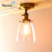 Permo Clear Glass Lampshade Sconce Wall Light Vintage Wall Lamp Retro Kitchen Luminaire New Year Christmas Decorations For Home