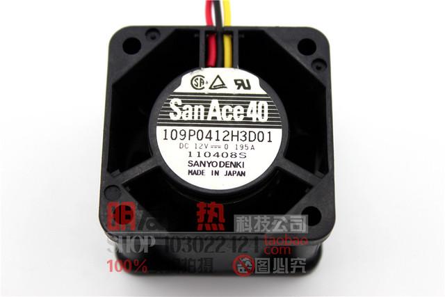 Original 109P0412H3D01 4028 0.195A 4 CM 12 V com velocidade dupla bola ventilador de refrigeração