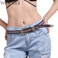 Wink Gal Knitted Belt Designers Brand Luxury Bohemian Belts for Women Leather Coachella 10877