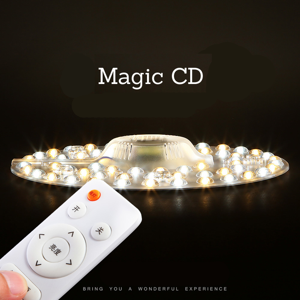 magic CDModern 48W 64W 80W Round shape  LED Light Panel   leds 220V 230V 240V Dimmable remote control ceiling lamp