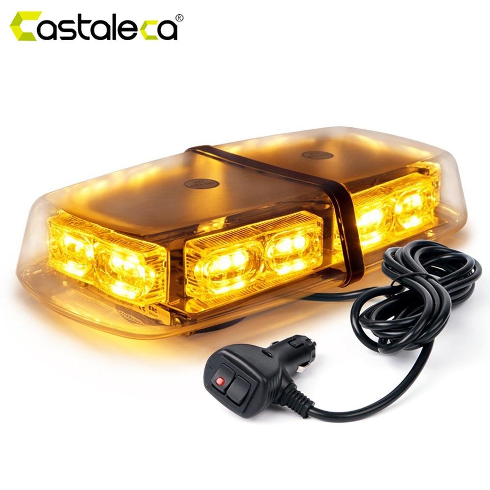 Castaleca Car Truck Emergency Warning Strobe Light Day Running Flash 36 LED Fog Lamp 16 Flashing