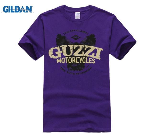GILDAN Gildan funny t shirts Guzzi Motorycles Letter Printed Classic Moto Guzzi T-shirt Fashion Mens Style T-shirt