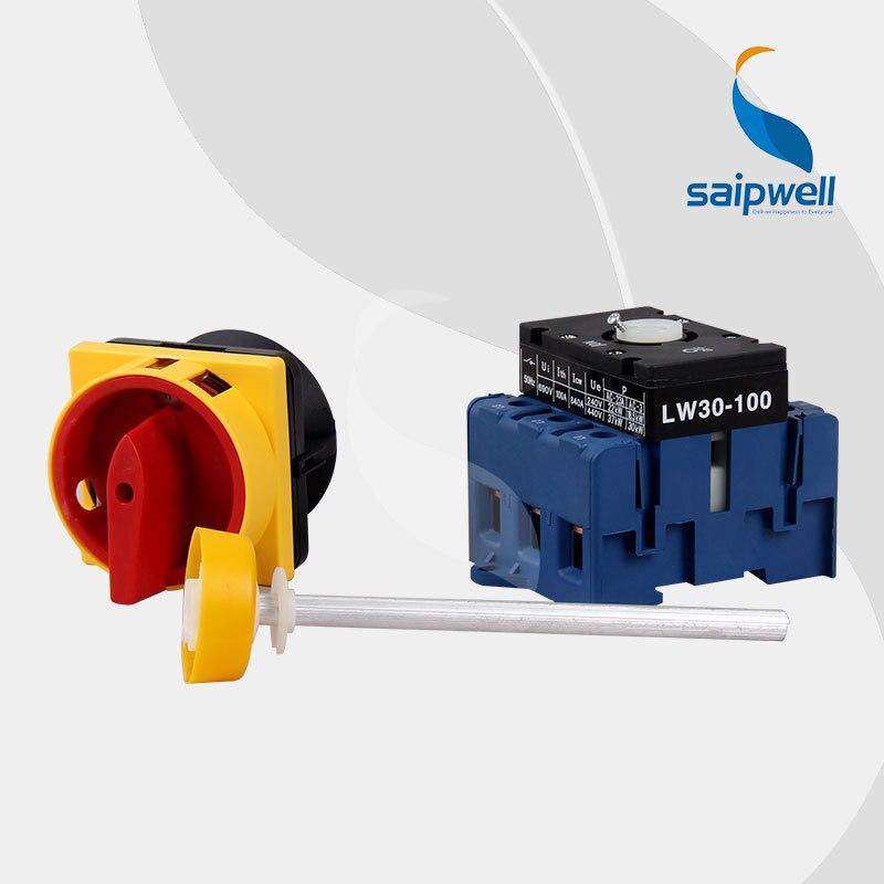 220 V-440 V 100Amp 4 Positions 6 bornes à vis commutateur inverseur/commutateur rotatif LW30-100