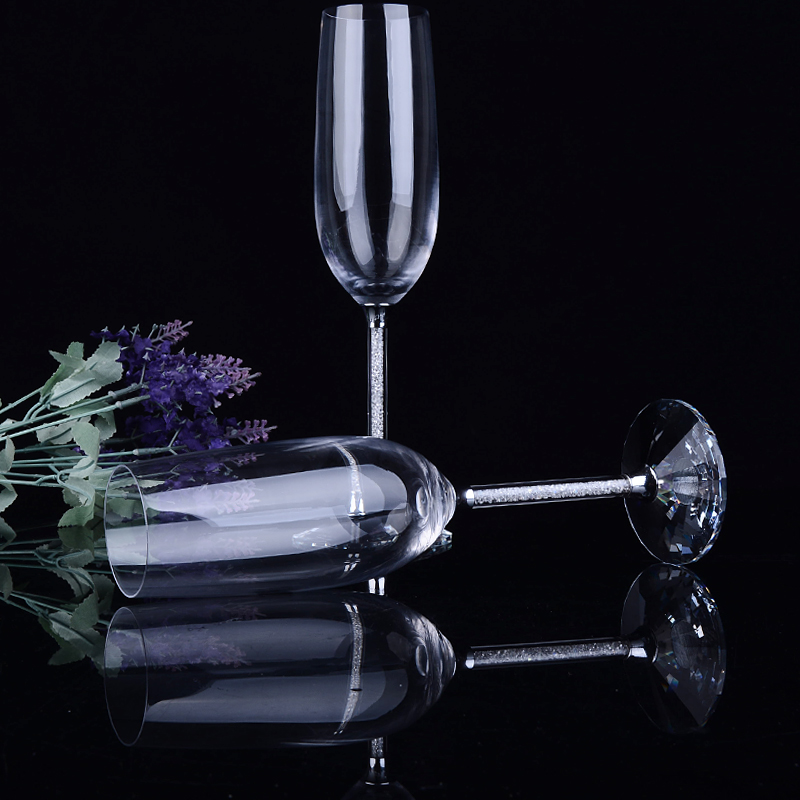 Crystal champagne flutes Wedding glasses Champagne cups coupe wedding decoration