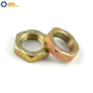 Image 3 - 200 Pieces M7*0.75*2 Thin Nut Fine Thread Carbon Steel Color Galvanized
