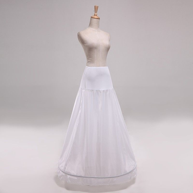 A Line Hoop Skirt New 1 Ring A-Line White Wedding Dress Underskirt Petticoat