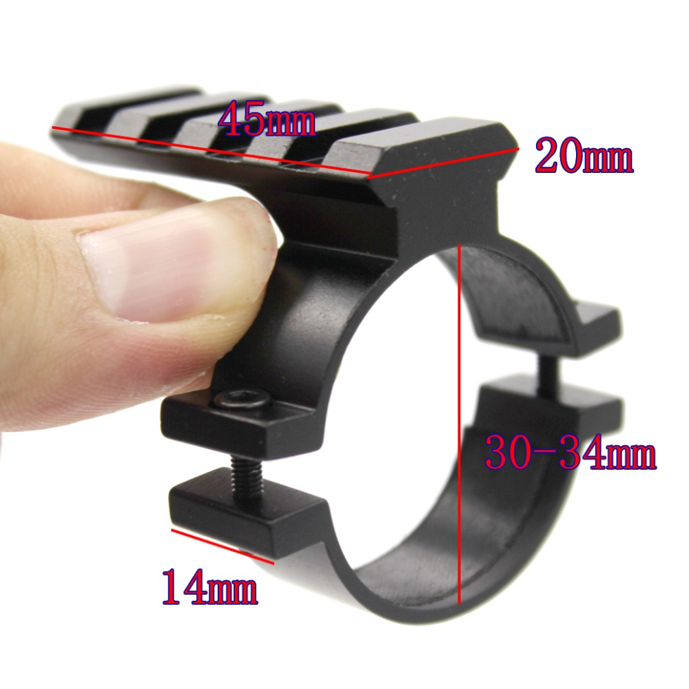 Ring-Adapter Scope Barrel-Mount Riflescopes-Ring Pistol Sight Picatinny-Rail 20mm Weaver
