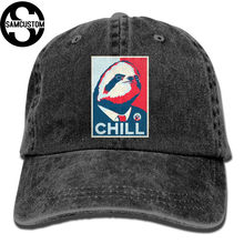 e15bb55aeae798 SAMCUSTOM chill sloth 3D Creative personality Washed Denim Hats Autumn  Summer Men Women Golf Sunblock Hockey