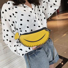 2019 New banana handbag Girls Children Cute shoulder bag women small Wallet Coin Shoulder Messenger Bag(China)
