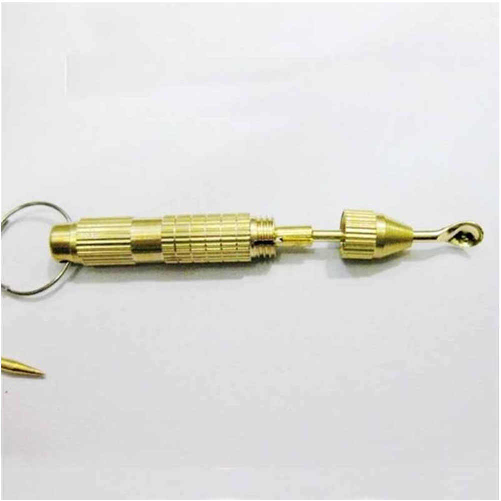 1 Pc herramientas de mano portátil 4 en 1 Juego de Herramientas múltiples destornillador de Cruz palillo de dientes clave de la cadena