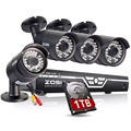 ZOSI HD 1MP 720P HDMI CCTV System 8CH Full 720P AHD DVR Kit 4* 720P Outdoor/Indoor Home Security Camera System 1TB HDD