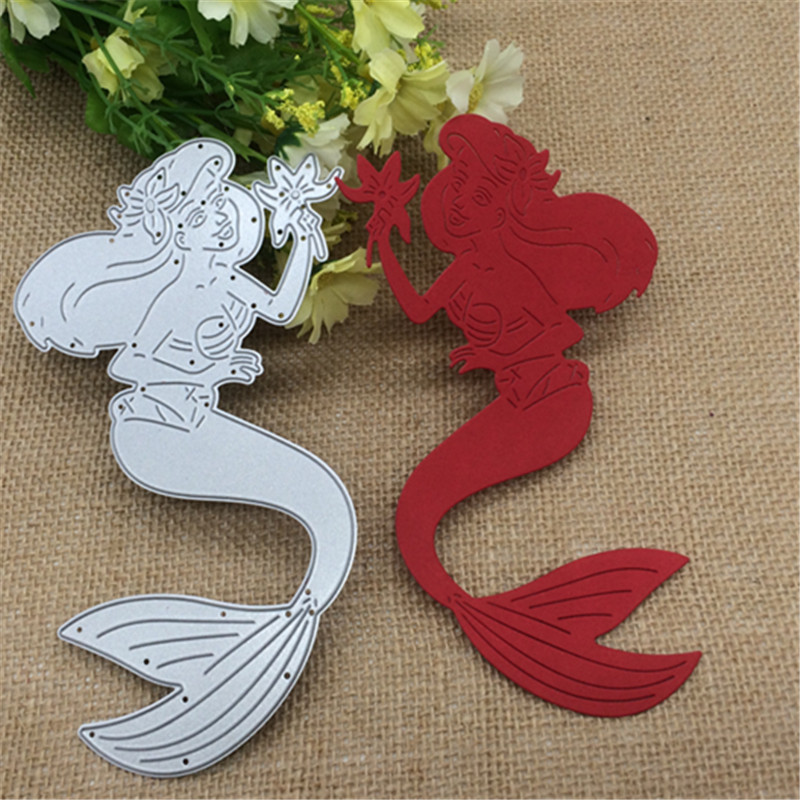 95mm x 165mm Big Mermaid Height Steel Metal Cutting Dies Stencil Scrapbooking Photo Album Card Paper Embossing Craft DIY95mm x 165mm Big Mermaid Height Steel Metal Cutting Dies Stencil Scrapbooking Photo Album Card Paper Embossing Craft DIY