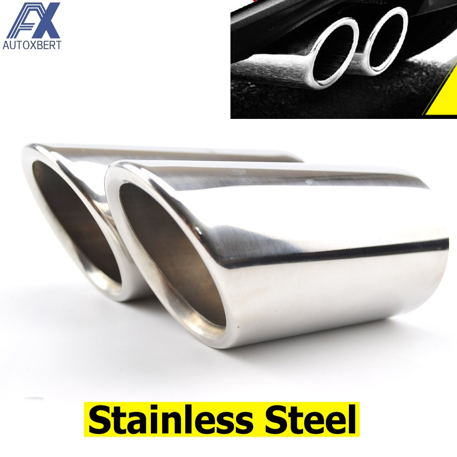 Quality Stainless Steel Car Racing Sport Look Exhaust Tail Trim 37mm-55mm