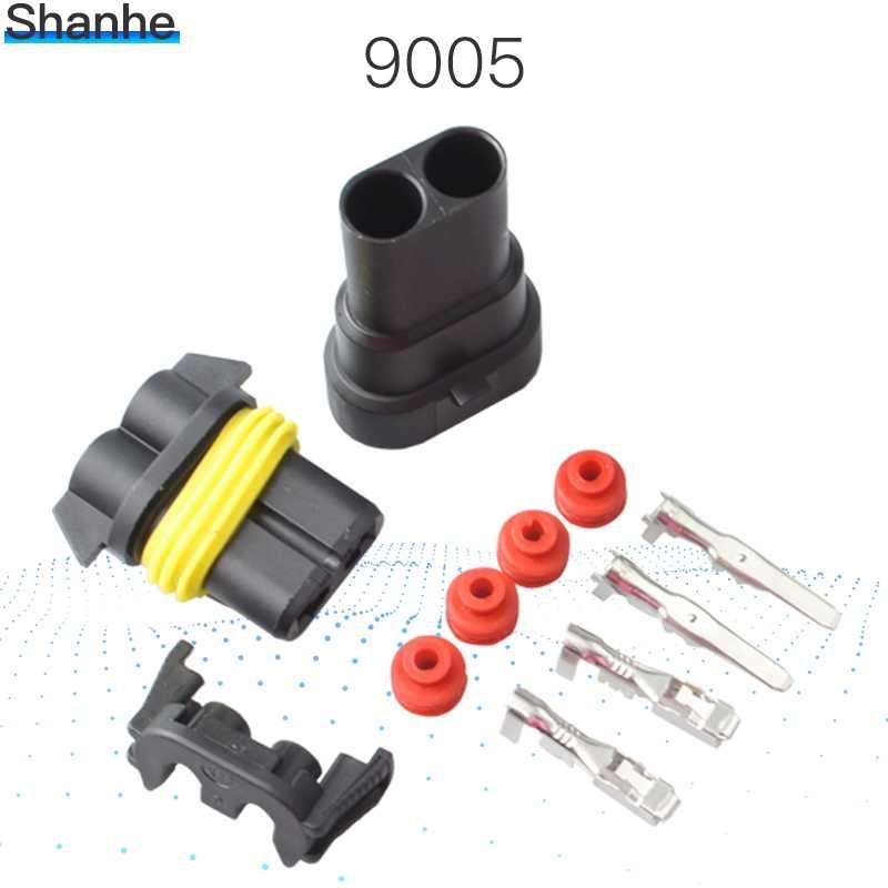 9005 2Pin Jalan 2.8 Mobil Konektor, Konektor Listrik Mobil Tahan Air Pria & Wanita Kit untuk Mobil Motor Dll