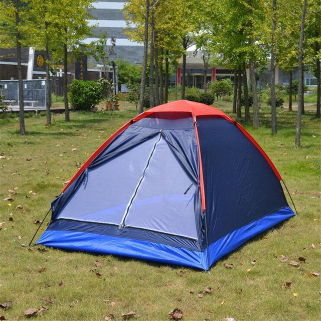 1-2 Person Single Layer Summer Camping Tent Lightweight Waterproof Breathable Tent for Outdoor Hunting Hiking 200x140x100cm