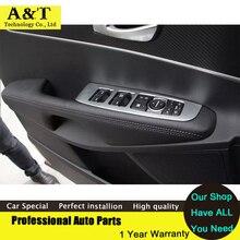 Авто аксессуары для интерьера внутренняя стеклоподъемник кнопкой отделкой для 2015 Kia Sorento Высокое качество Chrome Наклейки обрезать Тюнинг автомобилей автомобиля