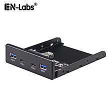 En Phòng 4 Cổng đa USB C USB 2.0 USB 3.0 Bộ Chia Mặt trước Combo Giá Đỡ Adapter cho Máy Tính Để Bàn 3.5 Inch Đĩa Mềm Bay
