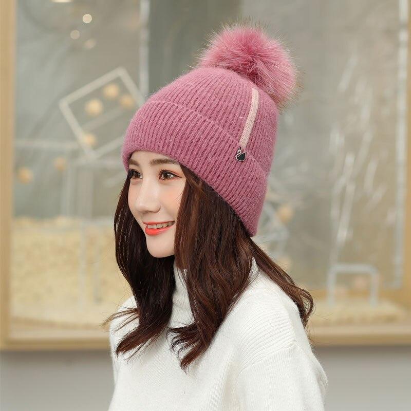 b2f6134fbe1837 beanie women winter hats for women skullies beanies for ladies winter  beanie hat solid pink black